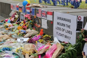 Photo taken from memorial to the passengers of Flight MH17