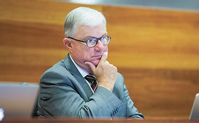 Justice Peter McClellan at the recent Royal Commission hearings in Melbourne