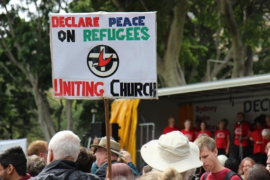 Photo from Nauru Centre protest