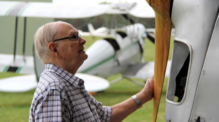 Keith George and Tiger Moth