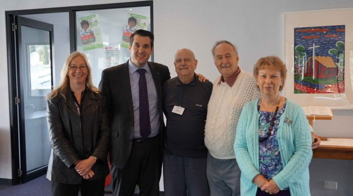 Michael Sukkar visited Croydon North Uniting Church members at the Gifford Village Community Centre