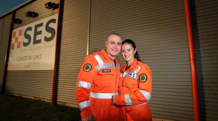 Johnny and Carol Bilouna in SES uniform