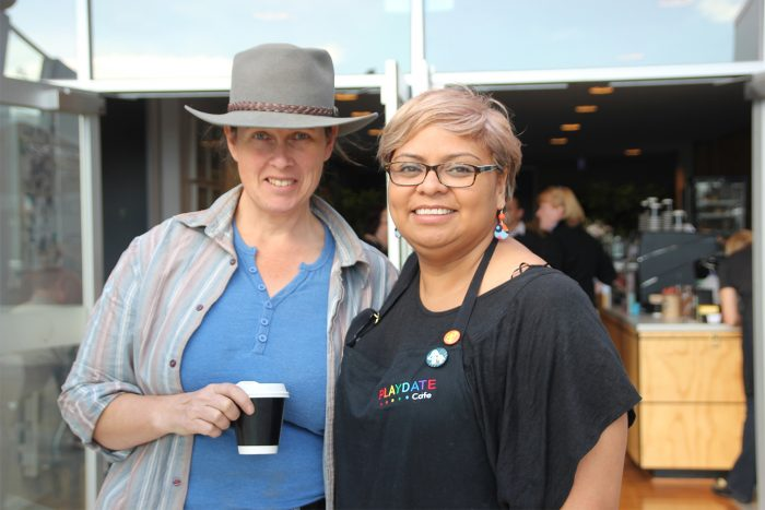 Fiona Adams (right) with Truly Welgemoed from True Care Gardening Werribee