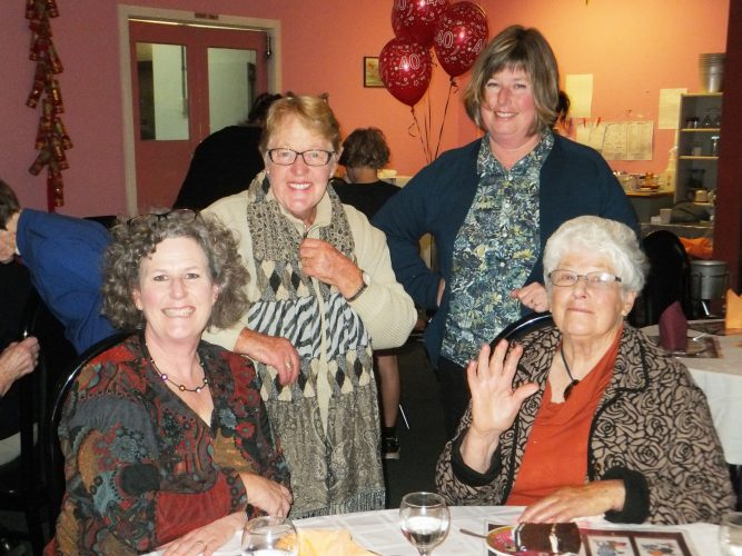 Robyn Cross, Sonya Roberts, Wendy Cameron and Jan Cougle (seated)