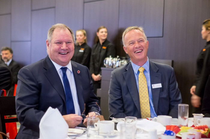 Lord Mayor Robert Doyle and CEO Rob Evers