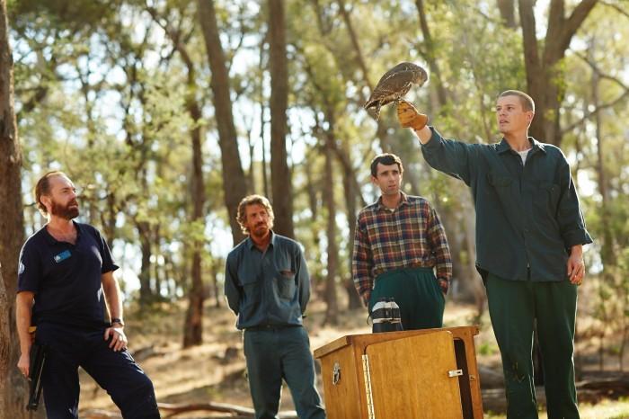 Hugo Weaving and Don Hany with Healing co-stars mark Leonard Winter and Xavier Samuel