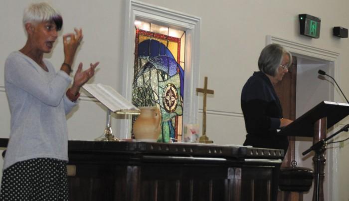 Rosemary Wilkinson Signing with Rev Carol Bennett