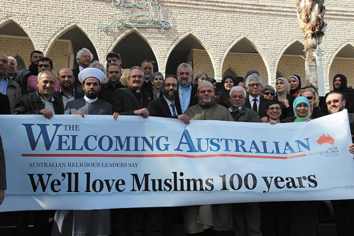 Faith leaders come together in support of Australia's Muslim community