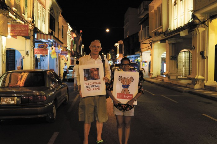 Journalists Alan Morison and Chutima Sidasathian are being pursued by the Royal Thai Navy on defamation charges