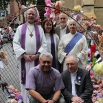 "Uniting Church representatives attending the launch ""Free the children"" art installation in Melbourne."