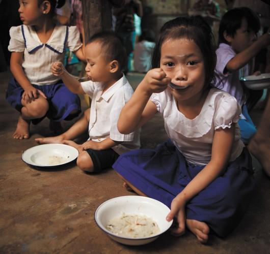 4 years old Li Ma is a beneficiary of the nursery school feeding program