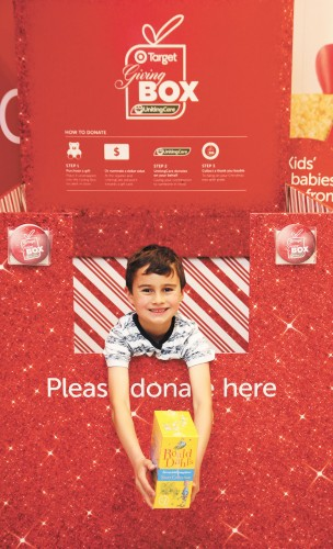 Nicholas with a giving box