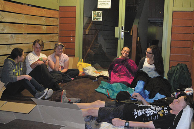 Aitken college sleepout