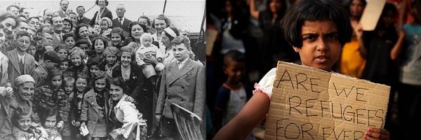 SS St Louis passengers and an asylum seeker today