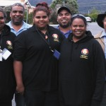 WA Congress delegates at the conference. Back (from left) Lenny Yarran, Perth, Des Lawson, Coolbellup and Robert Jetta, Waroona. Front (from left) Adrianna Walsh, Shonae Garlett and Cheryl Lawson, all from Coolbellup