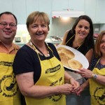 UnitingCare Pancake Day 2015 staff posing with pancakes