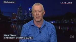 Mark Dixon being interviewed on ABC's Lateline
