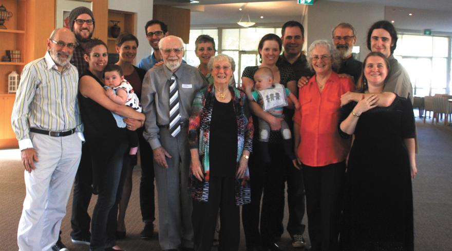 Rev Gardner with family