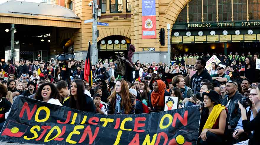 Protest against the forced closure of remote indigenous communities