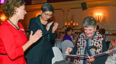 Lisa Carey (Red dress), Senator Penny Wong, Joan Kirner AC