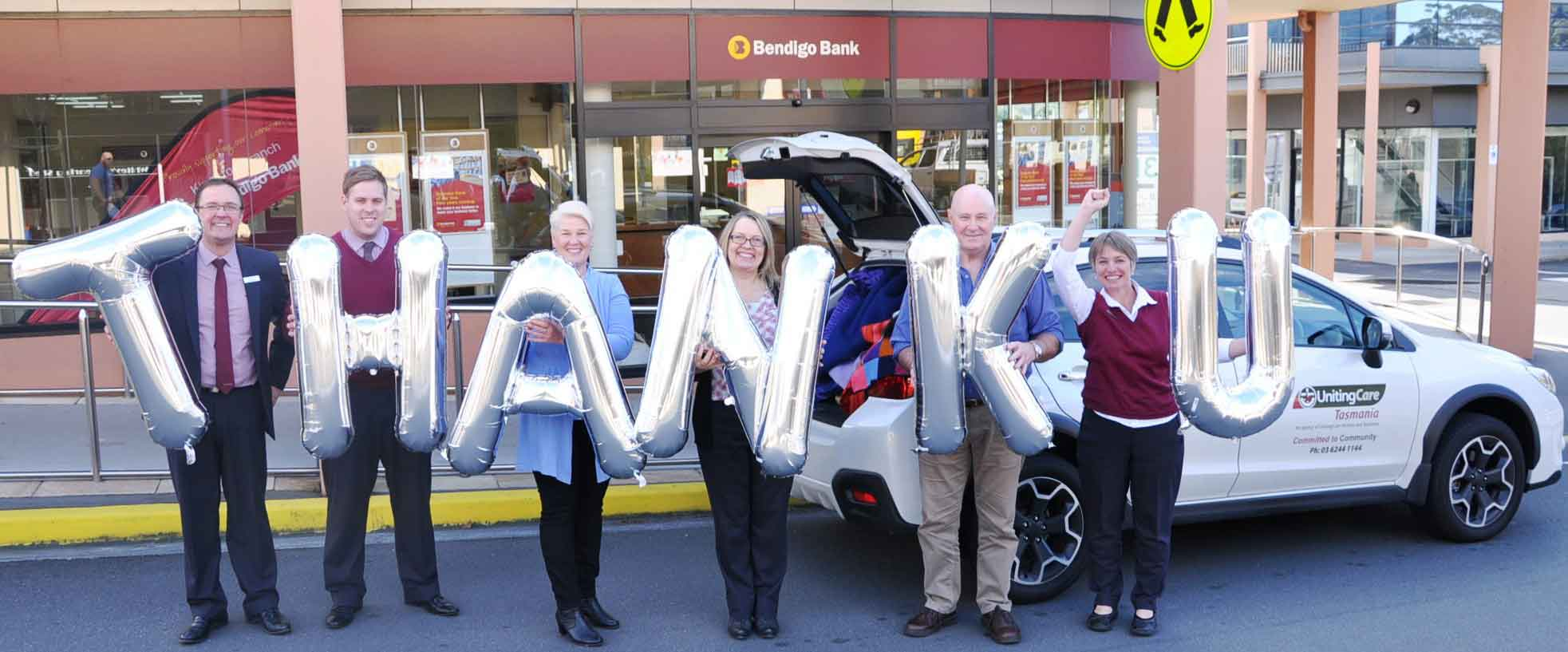 Bendigo Bank thanks UnitingCare Tasmania