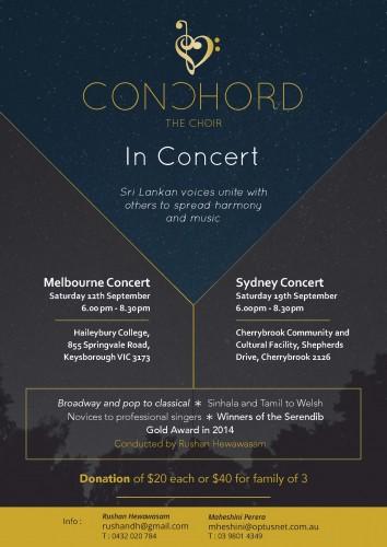 onChord Concert Flyer 2015