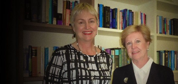 Photograph of Gillian Triggs and Penny Mulvey
