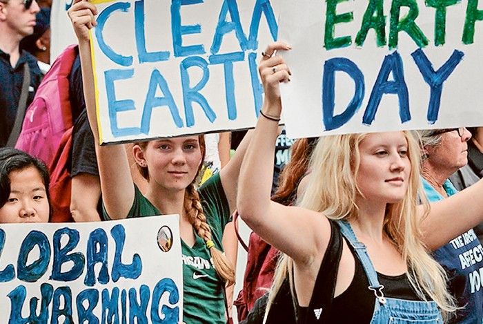 marching for clean energy