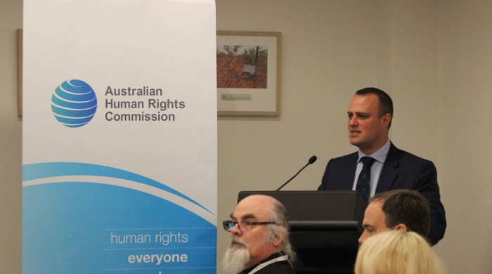 Tim Wilson opens the event.