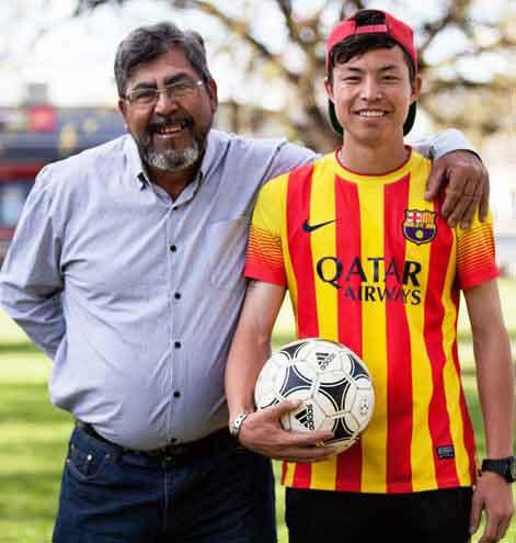 Luis Rodriguez with Sajad Hussaini