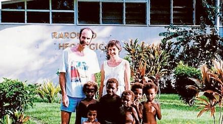 Paul and Gillian Tonson in Papua New Guinea