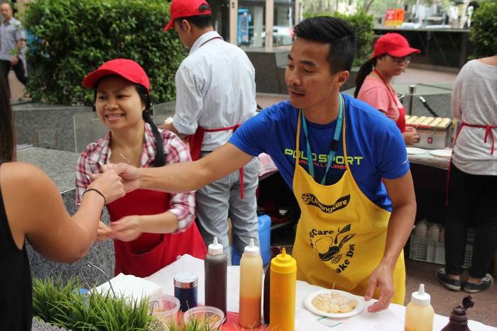 AMP staff at Pancake Day