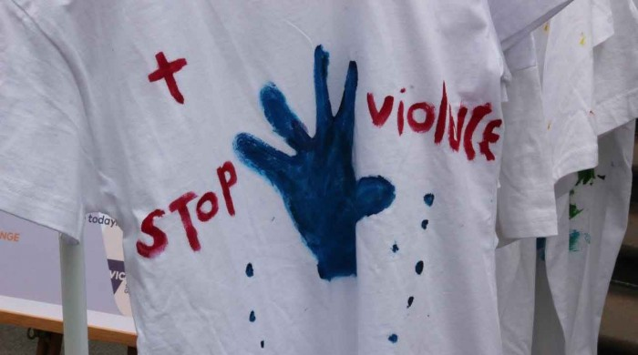 stop domestic violence installation