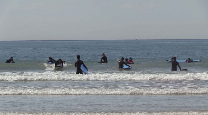 surfing at ocean grove