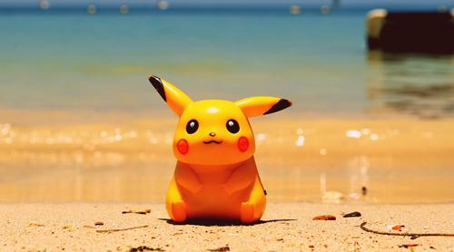 pikachu on a beach