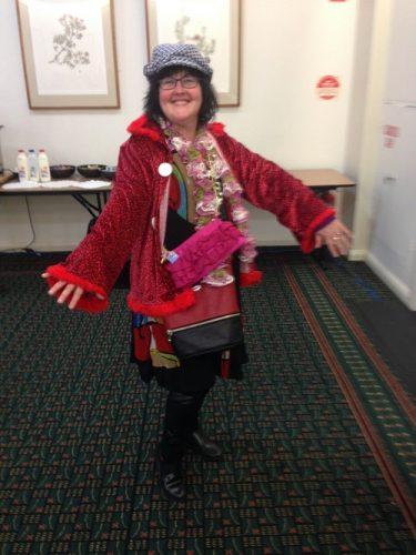 Cynthia modelling at Synod