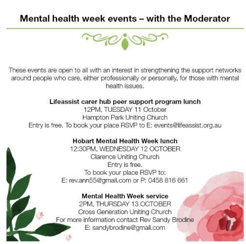 mental health week events