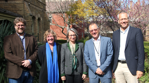 Conference convenor John Flett, Lucy Morris, Annette Noller, Hanns-Stephan Haas, Johannes Eurich