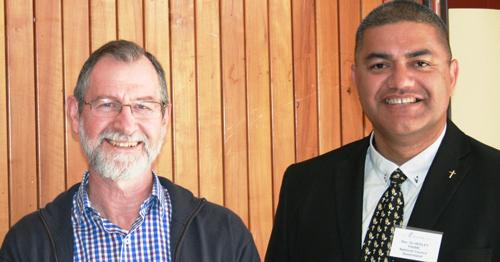 Stuart McMillan and Rev Dr Hedley Fihaki