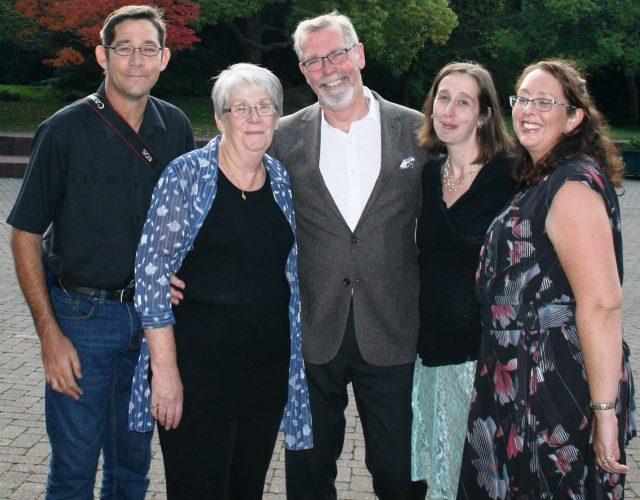 Carol and husband Rev Colin Gurteen with children from left Simon Gurteen, Helen Glyde and Kate Whitehead
