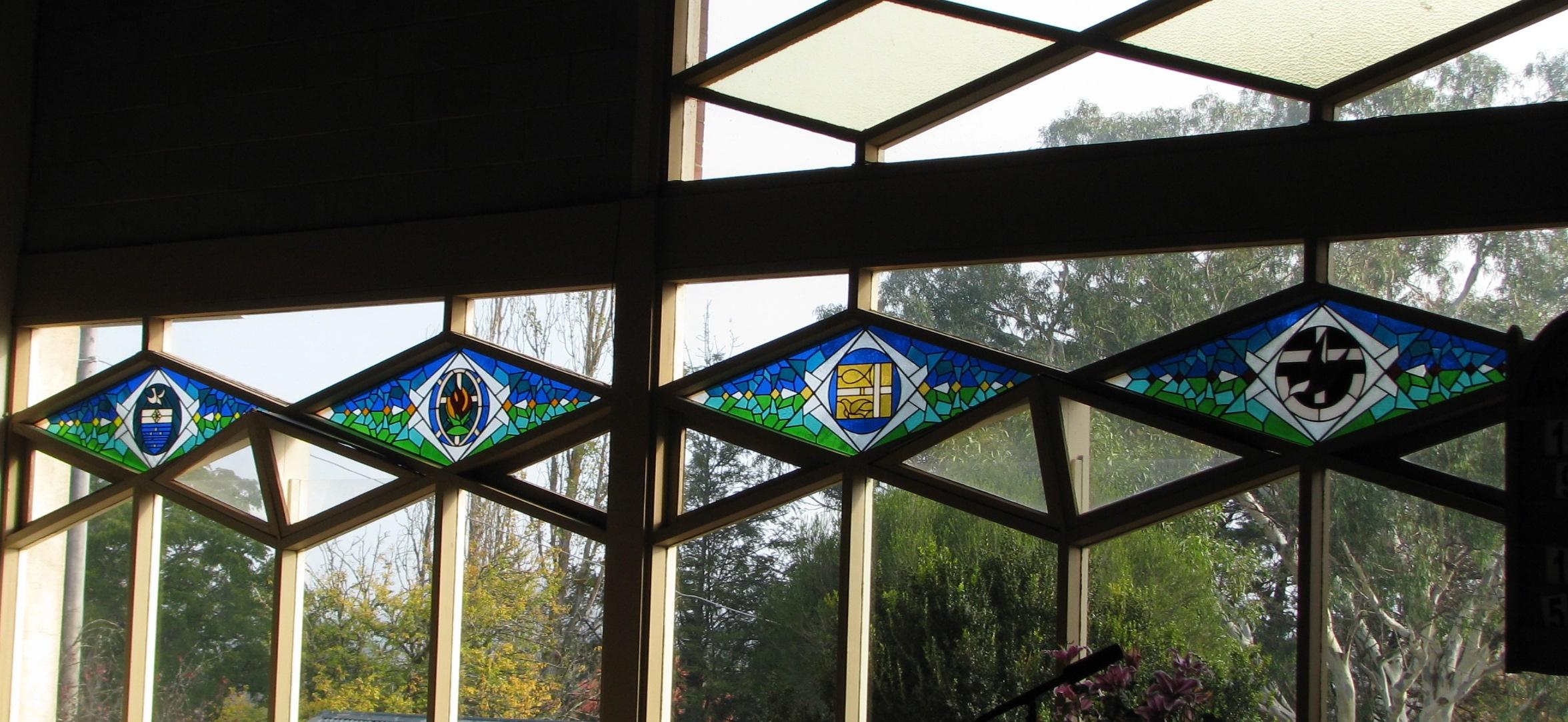 2- church windows Uniting badges - CrosslightCrosslight