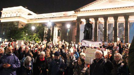refugee vigil