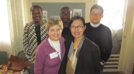 8_Noah (top right) with Margaret Farrell (bottow left) and members of the Monash UCA congregation