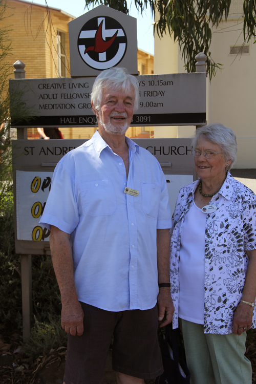 Garth Phillips and fellow justice group member Ruth Hosking