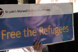 refugee sign