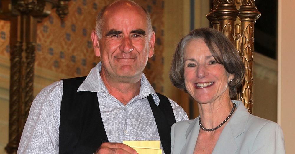 James Boyce and Professor Kate Warner, Governor of Tasmania