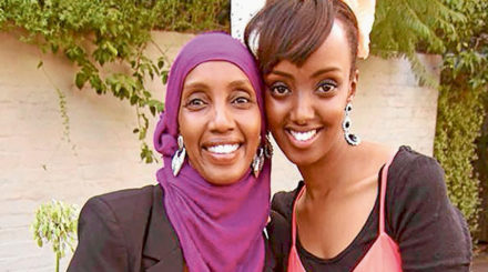 Sumaya Harare with mother Mariam Issa