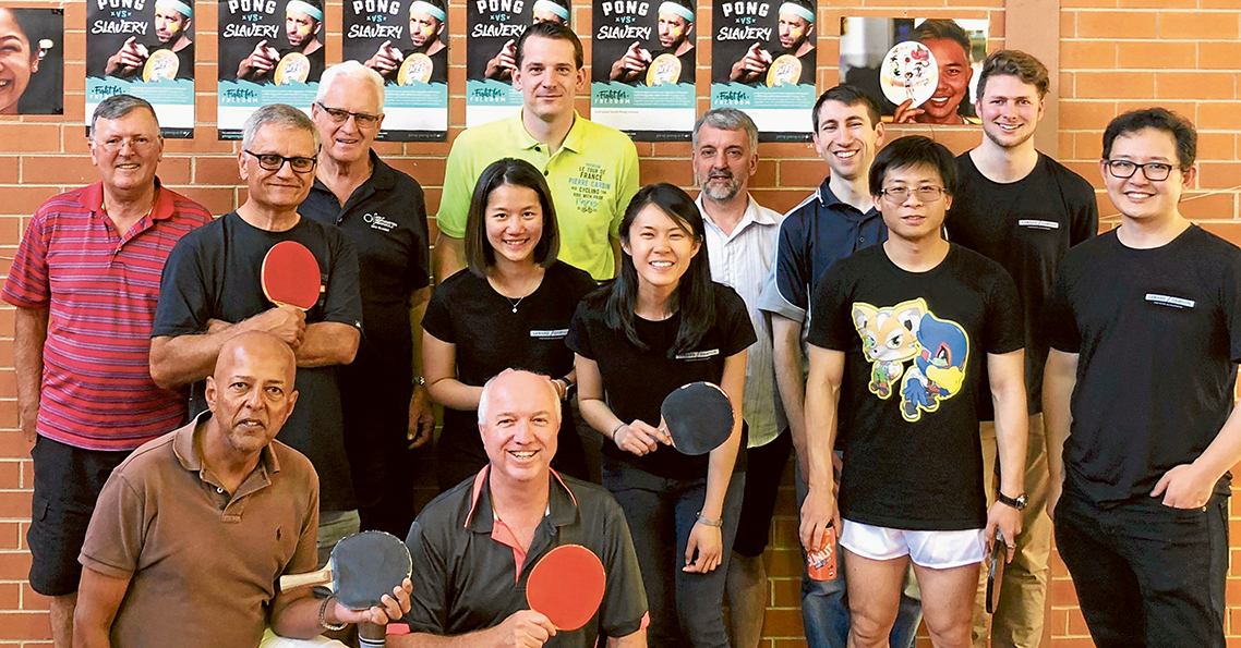 Ping-Pong-A-Thon participants at High Street Road Uniting Church