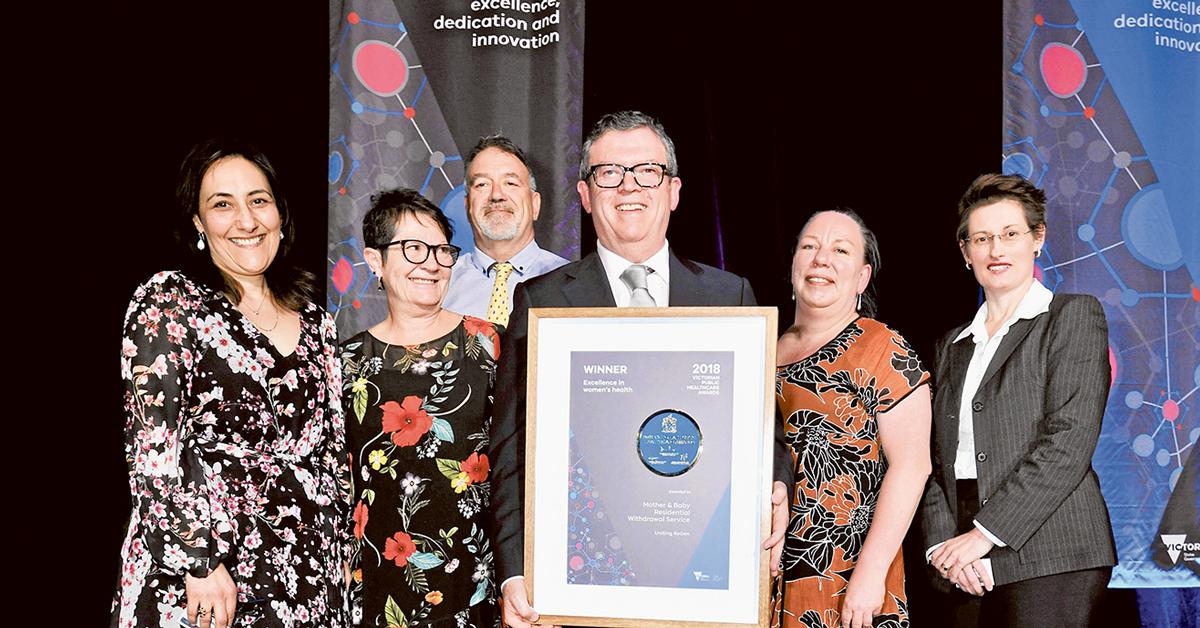 Uniting Vic.Tas ReGen team receives their award