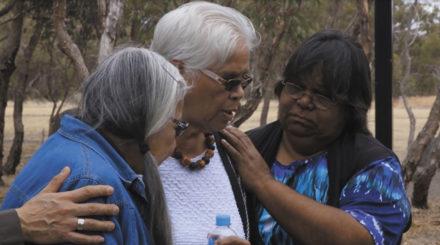3_Rev-Denise-ChampionAuntie-Mona-OlssonLornaStandingreadyatColebrook-Reconciliation-ParkinAdelaide